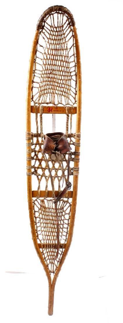 Antique Wooden Wallingford, VT Snowshoes - 3
