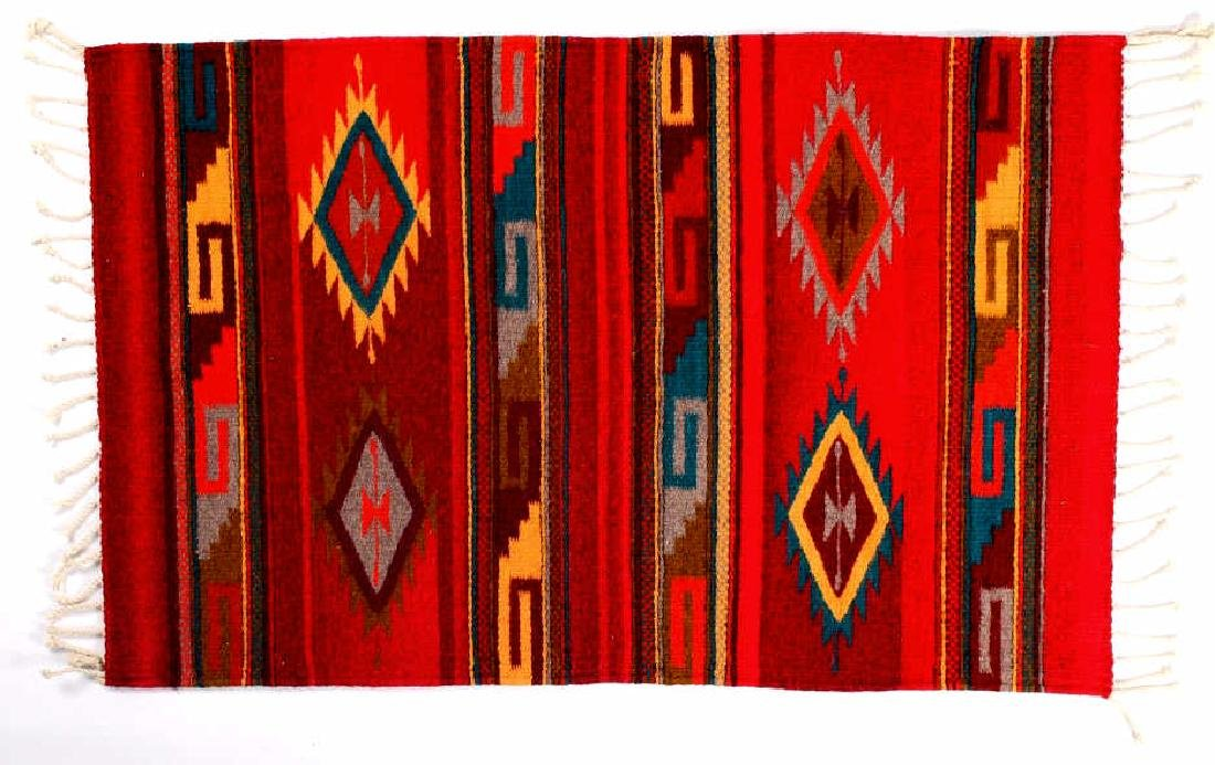 Zapotec Native American Indian Hand Woven Rug