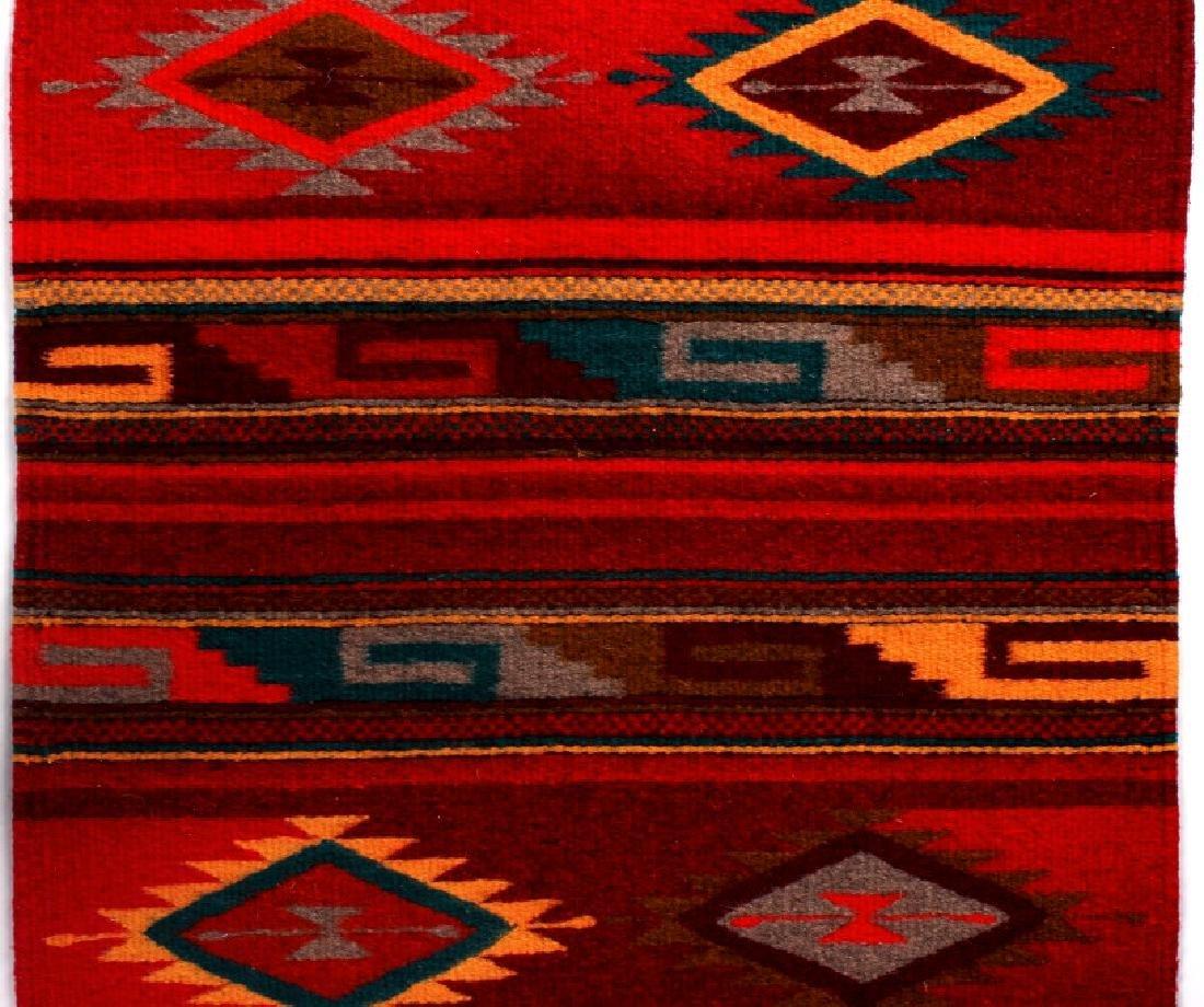 Zapotec Native American Indian Hand Woven Rug - 2