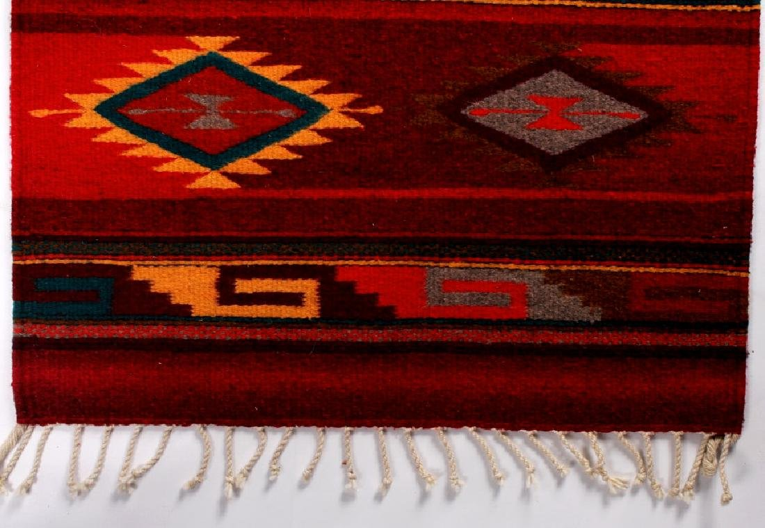 Zapotec Native American Indian Hand Woven Rug - 3