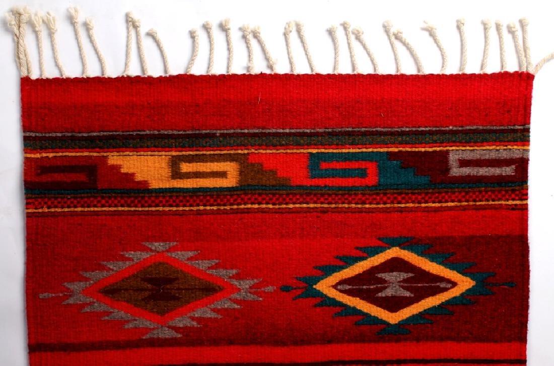 Zapotec Native American Indian Hand Woven Rug - 4