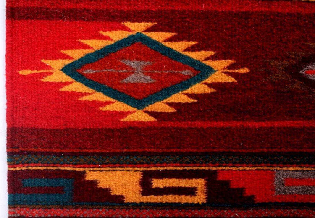 Zapotec Native American Indian Hand Woven Rug - 5
