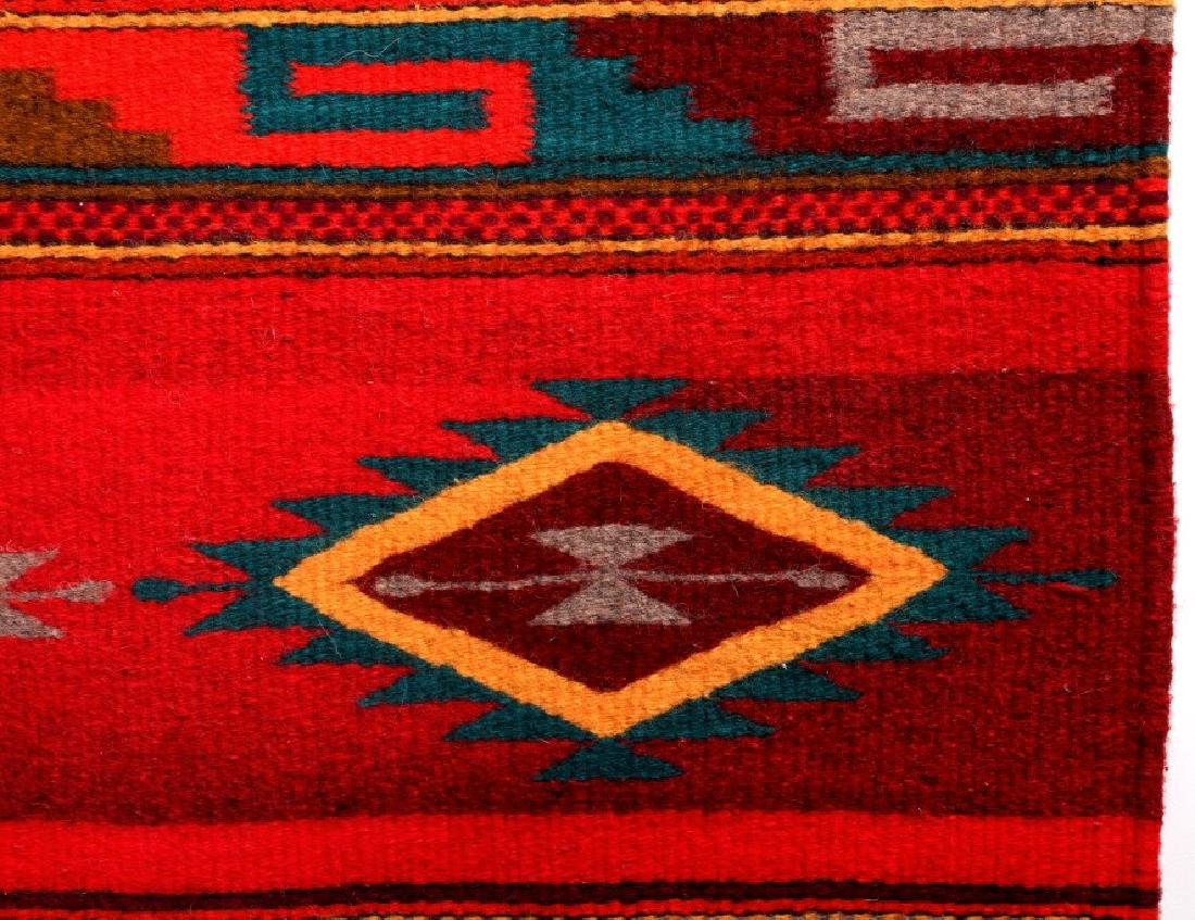 Zapotec Native American Indian Hand Woven Rug - 7