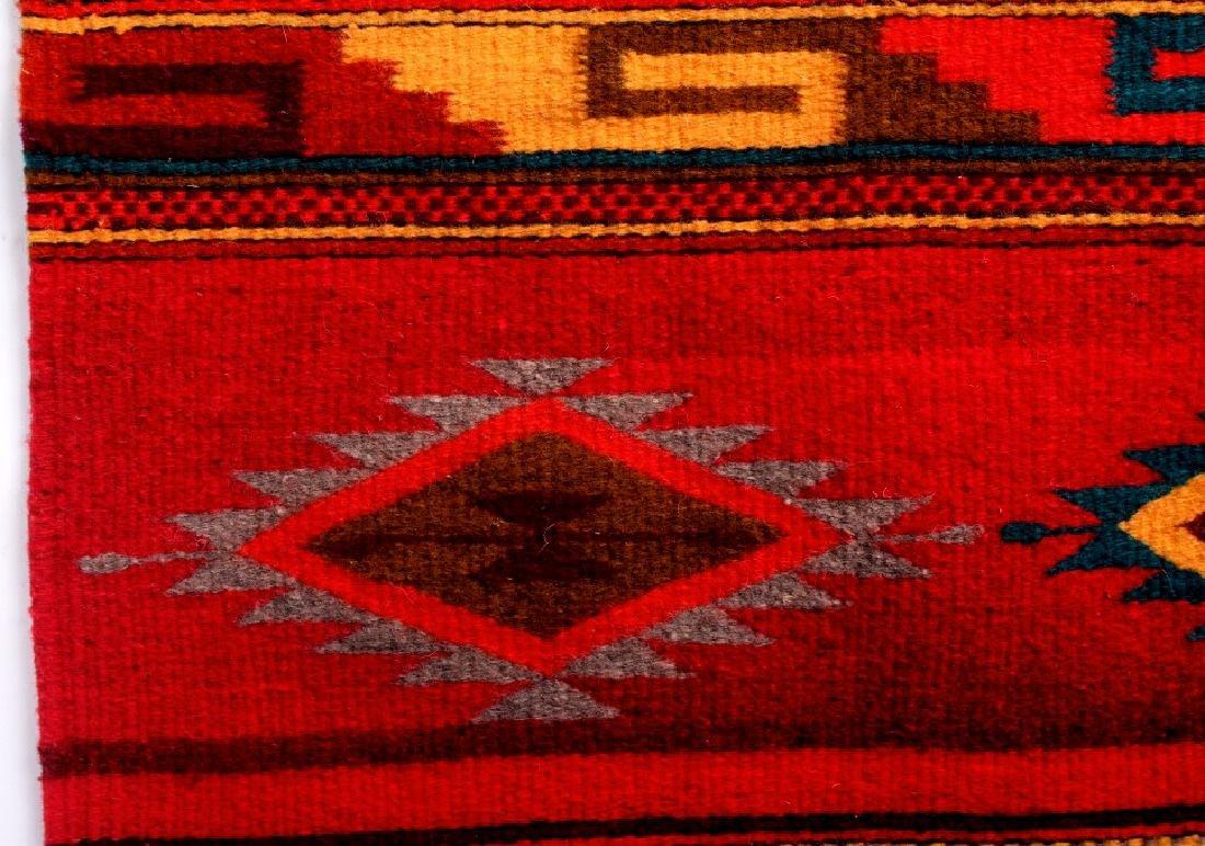 Zapotec Native American Indian Hand Woven Rug - 8