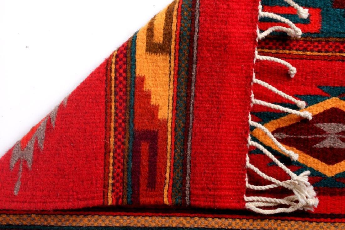 Zapotec Native American Indian Hand Woven Rug - 9