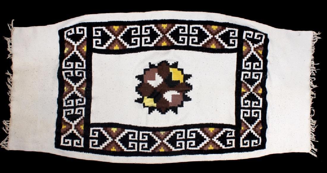 Zapotec Native American Indian Hand-Spun Wool Rug