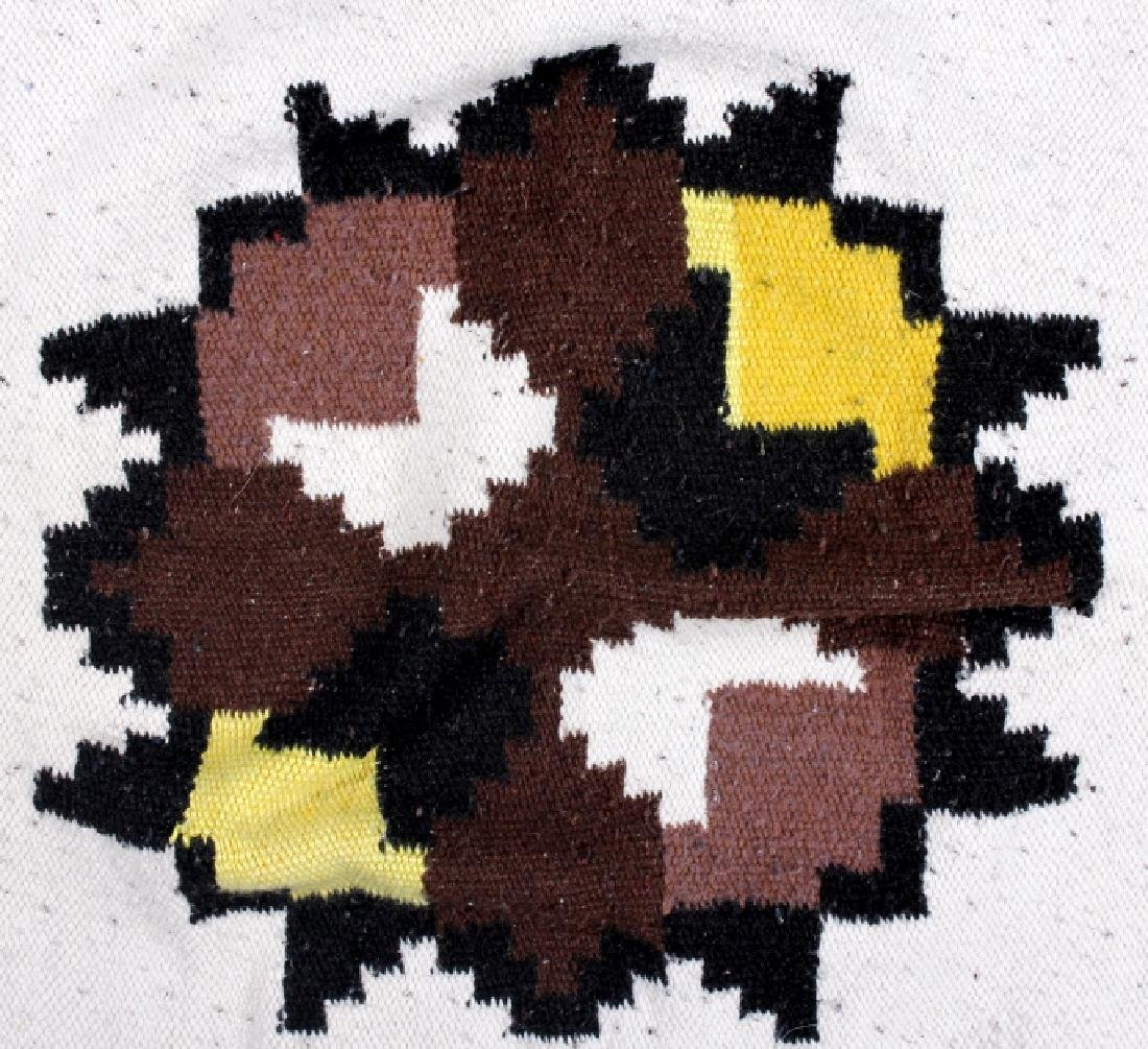 Zapotec Native American Indian Hand-Spun Wool Rug - 2