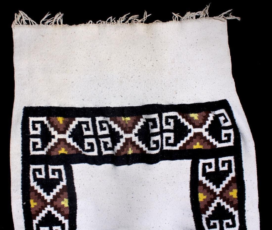 Zapotec Native American Indian Hand-Spun Wool Rug - 4