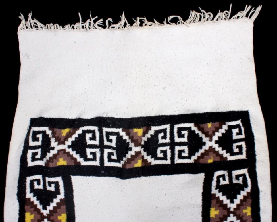Zapotec Native American Indian Hand-Spun Wool Rug - 5