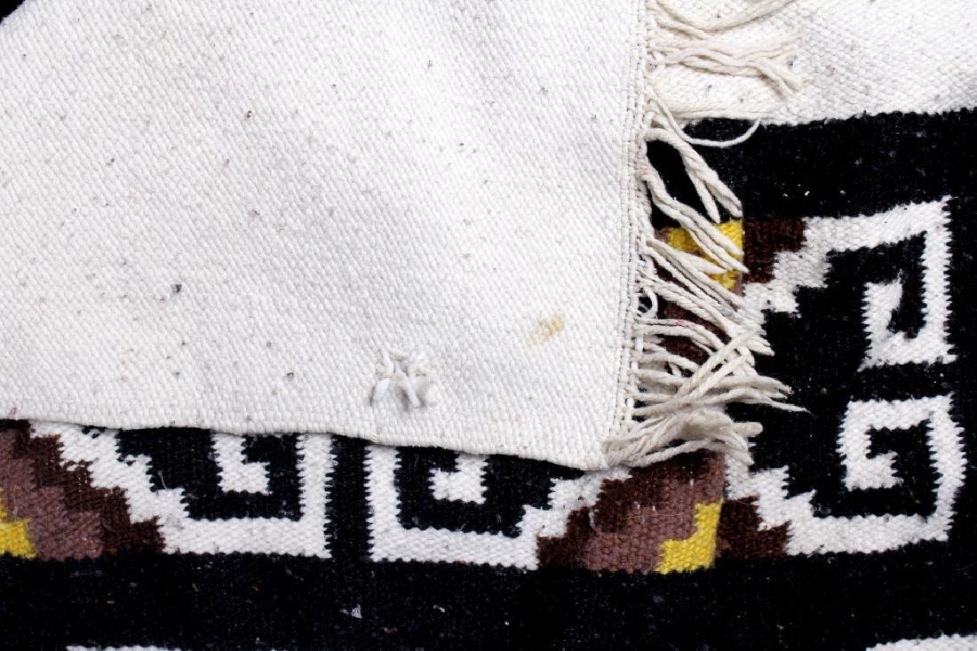 Zapotec Native American Indian Hand-Spun Wool Rug - 6