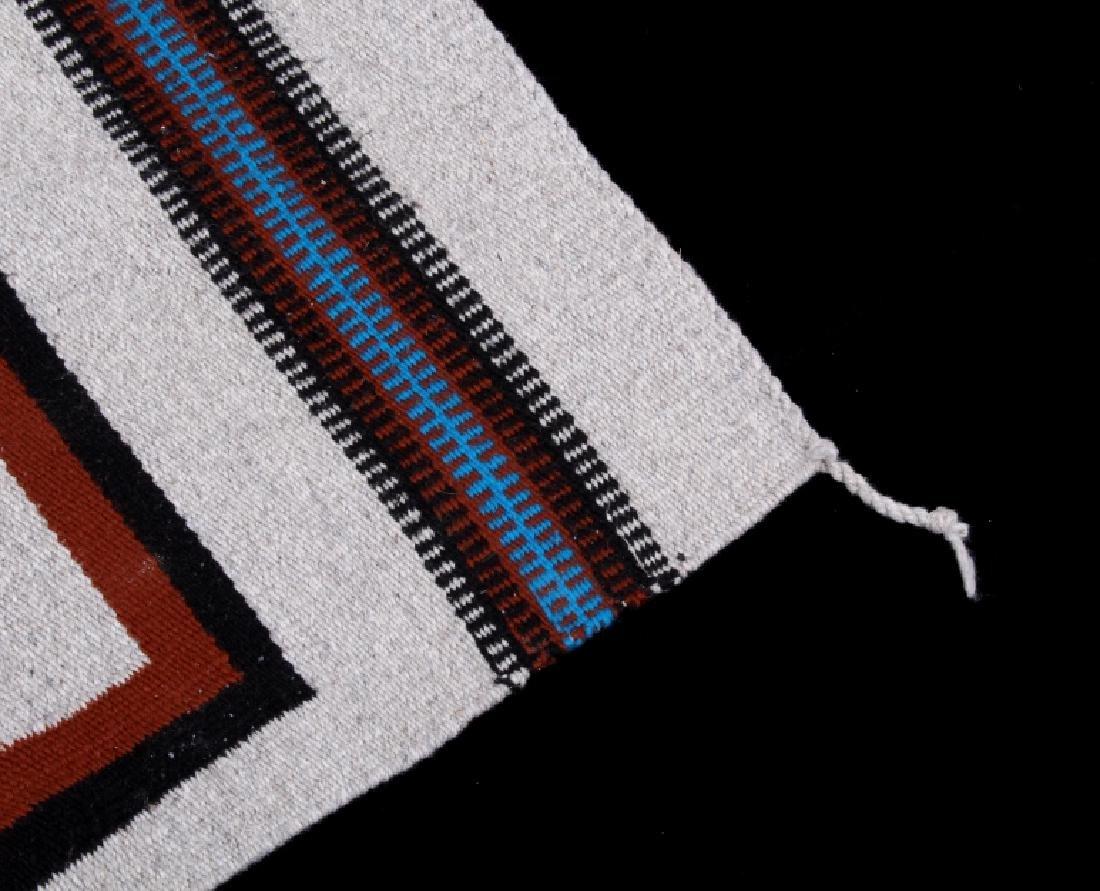 Navajo Rainbow Pictorial Yei Wool Rug - 5