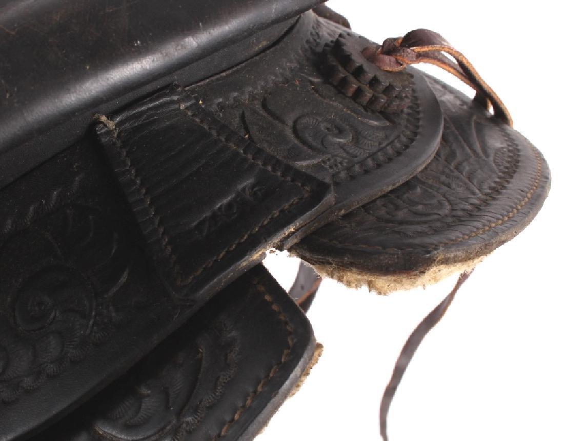 Custom Floral Tooled Western Style Saddle - 13