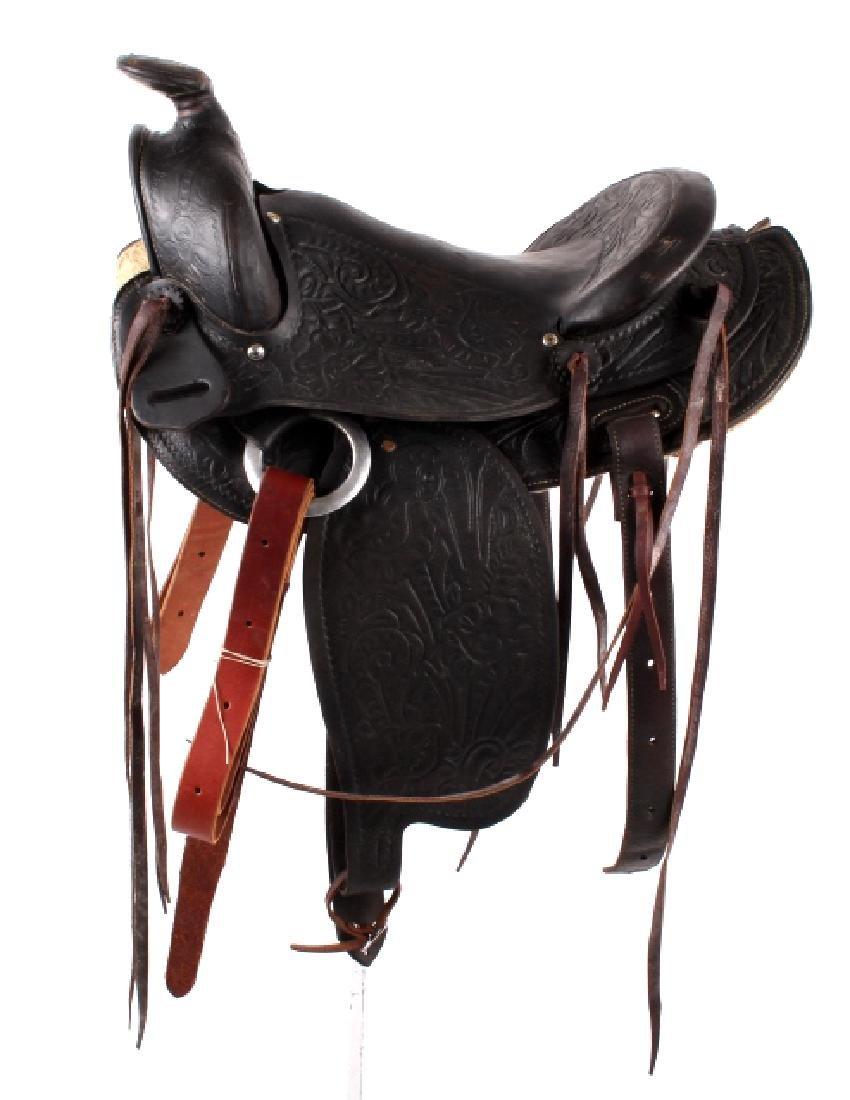 Custom Floral Tooled Western Style Saddle