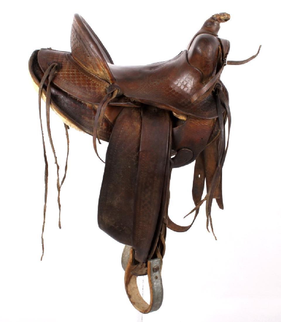 James T. Irick Custom Saddle - Casper, Wyo c.1930