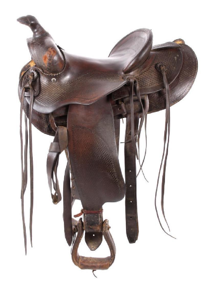 Santa Fe, New Mexico Custom Tooled Saddle