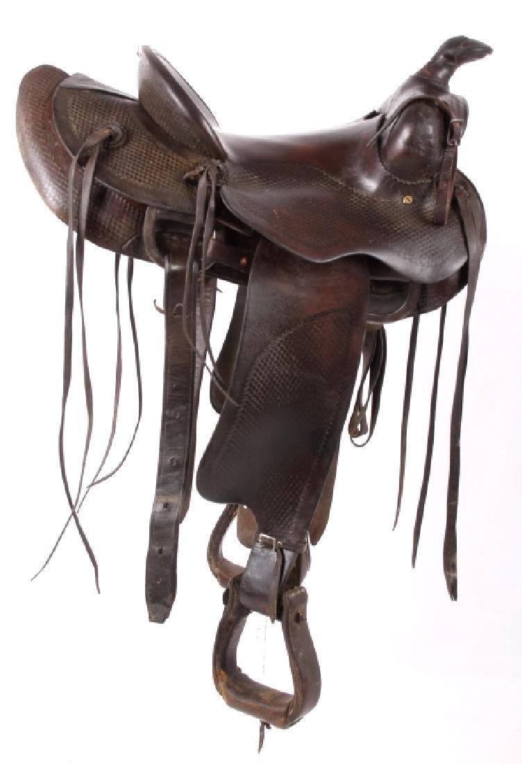 Santa Fe, New Mexico Custom Tooled Saddle - 2