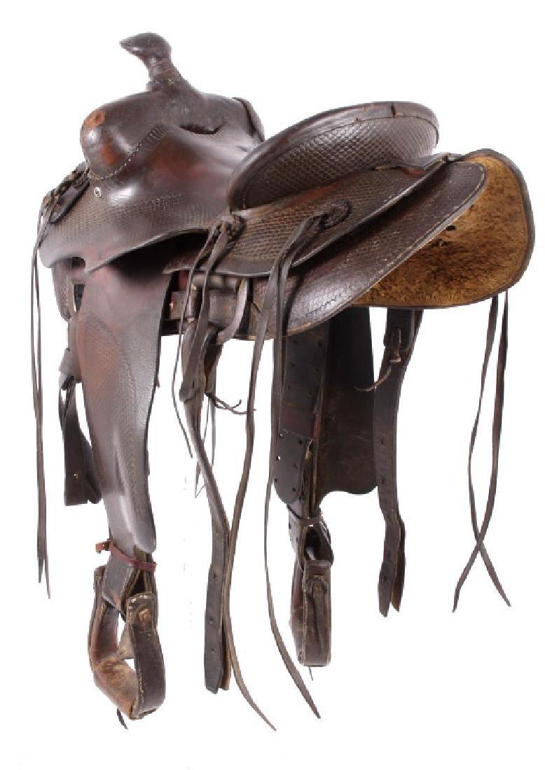 Santa Fe, New Mexico Custom Tooled Saddle - 3
