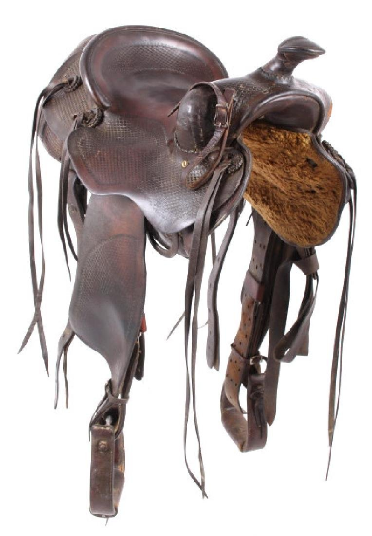 Santa Fe, New Mexico Custom Tooled Saddle - 4