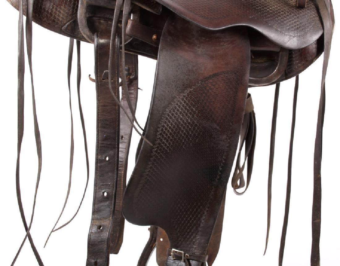 Santa Fe, New Mexico Custom Tooled Saddle - 5