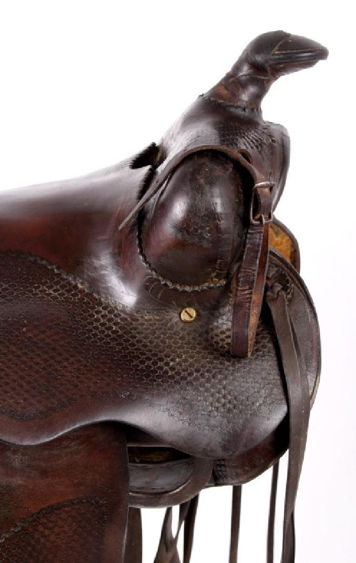 Santa Fe, New Mexico Custom Tooled Saddle - 6
