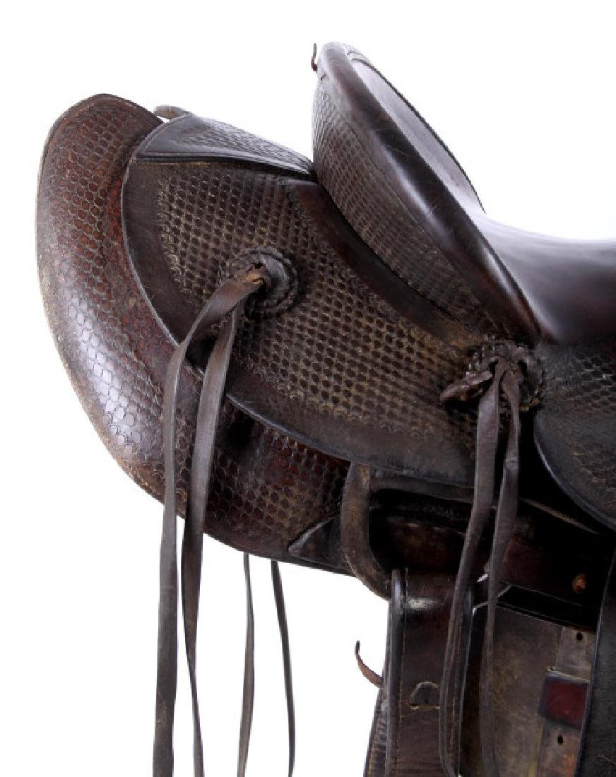 Santa Fe, New Mexico Custom Tooled Saddle - 7