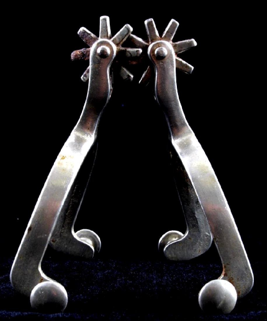 North and Judd Anchor Marked Cowboy Spurs