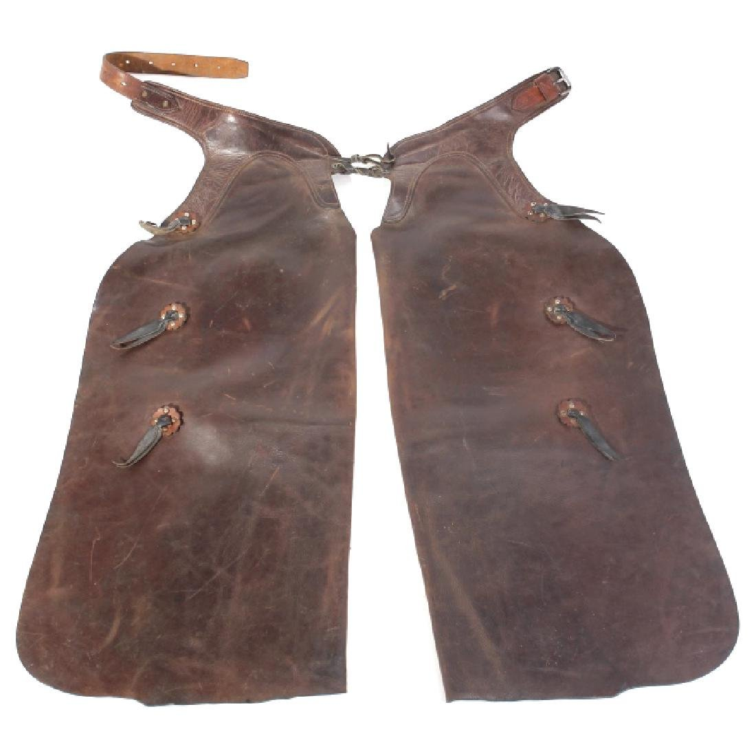 George Lawrence Western Leather Cowboy Chaps