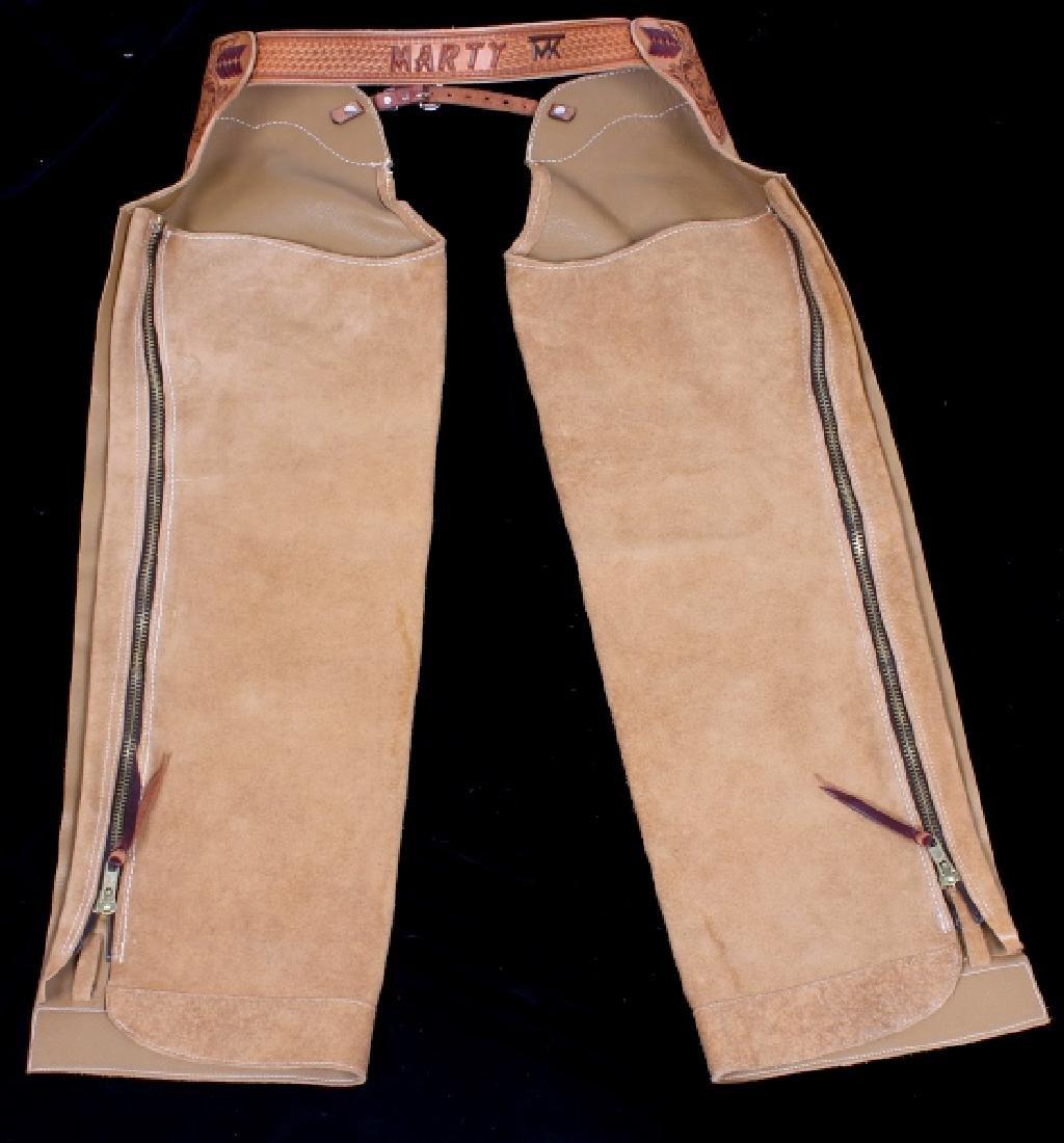 Montana Tooled Leather Shotgun Chaps - 10
