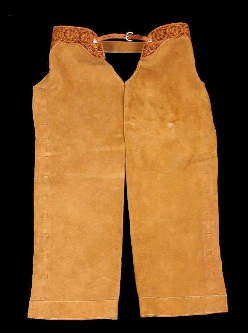 Montana Tooled Leather Shotgun Chaps