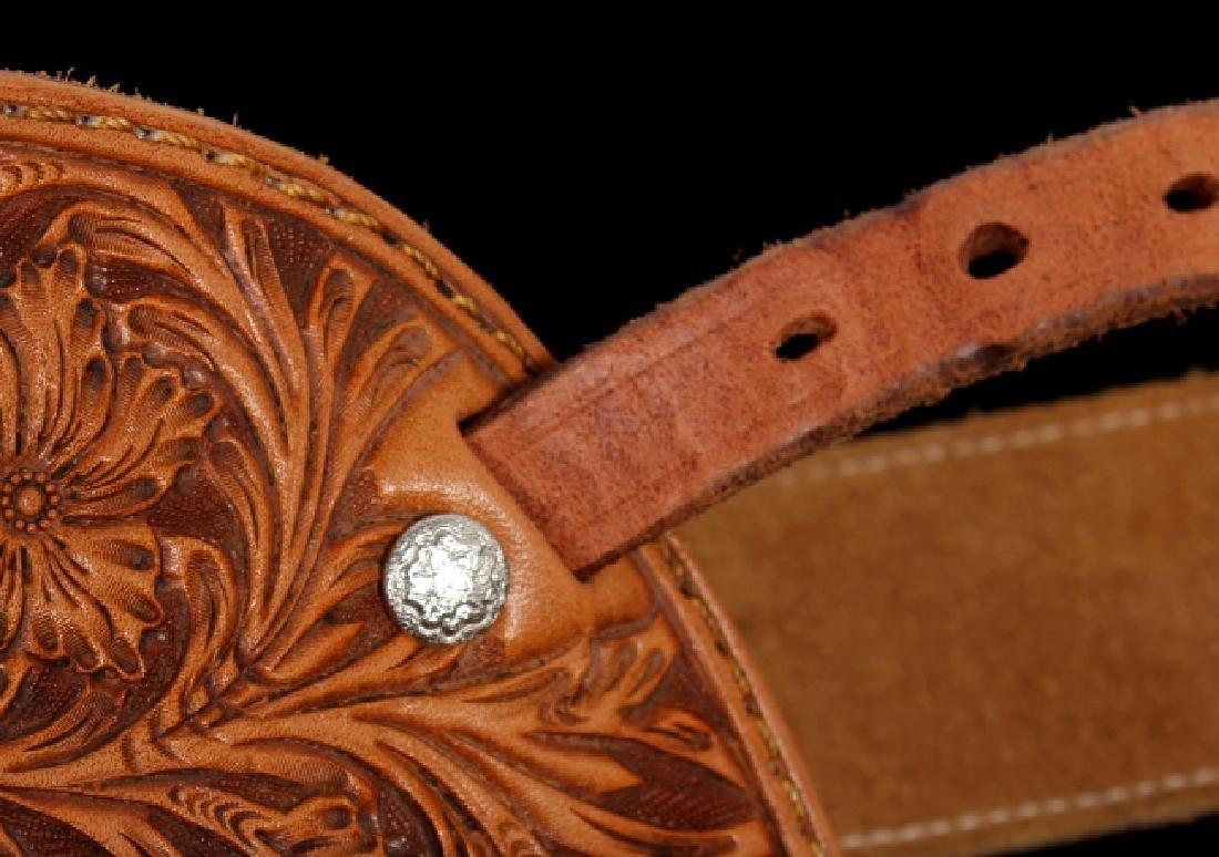 Montana Tooled Leather Shotgun Chaps - 6