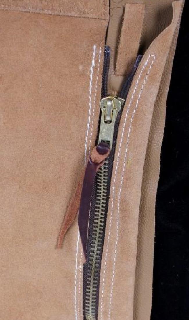 Montana Tooled Leather Shotgun Chaps - 9