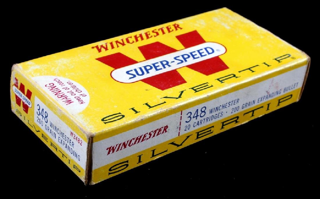 Six boxes .348 Winchester Cartridges - 10