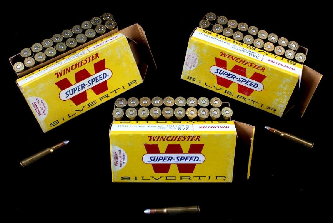 Six boxes .348 Winchester Cartridges - 13