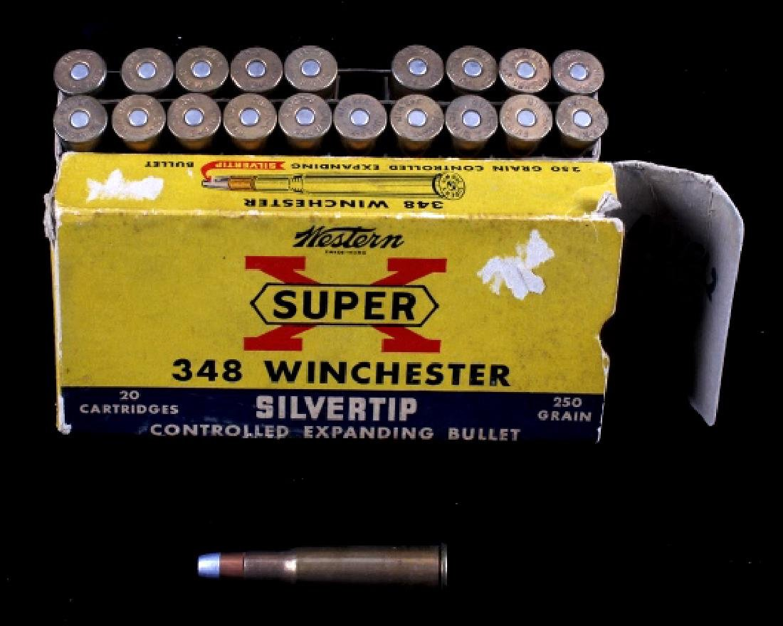 Six boxes .348 Winchester Cartridges - 8
