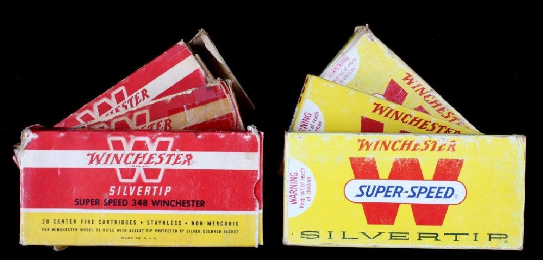 Six boxes .348 Winchester Cartridges