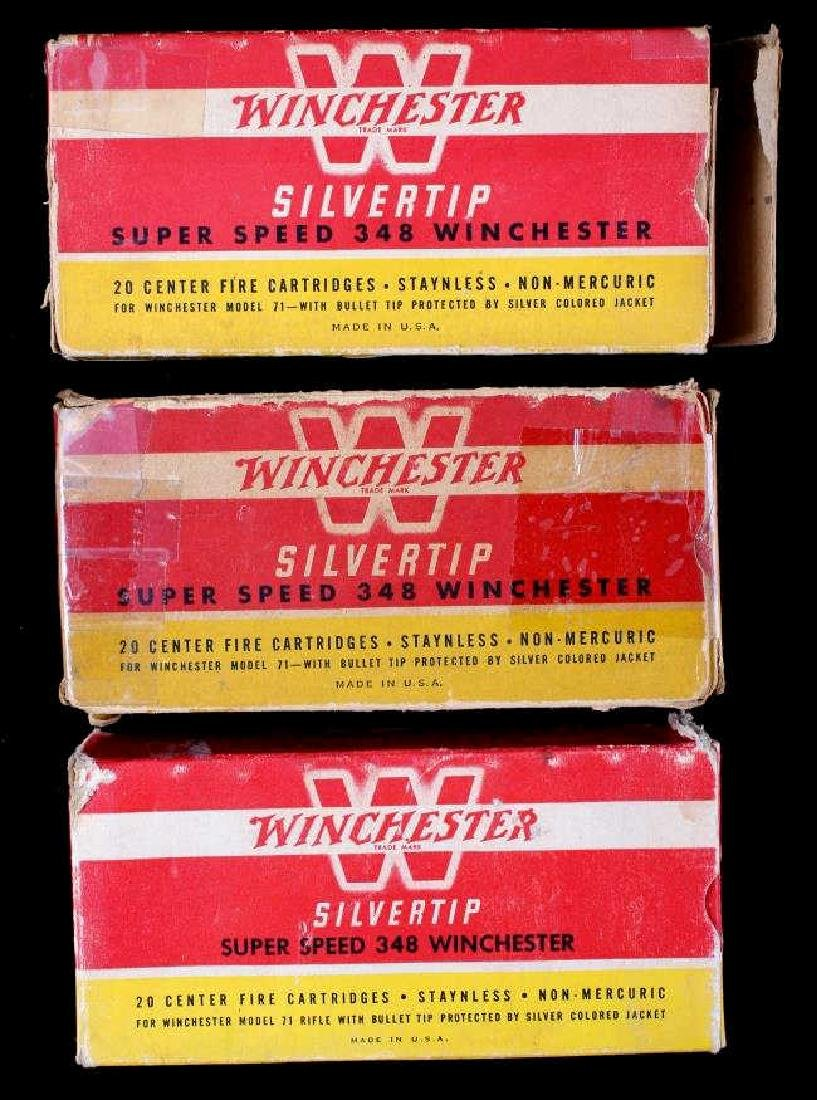 Six boxes .348 Winchester Cartridges - 2