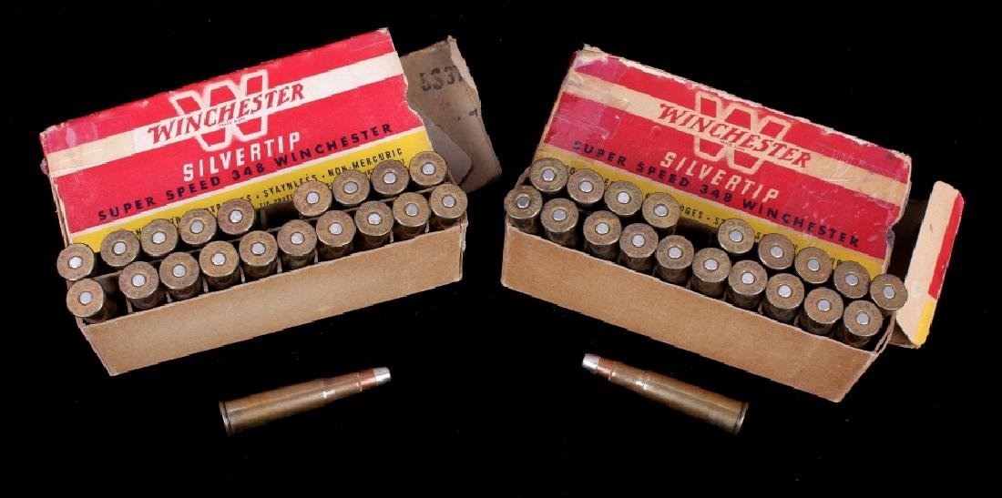 Six boxes .348 Winchester Cartridges - 5