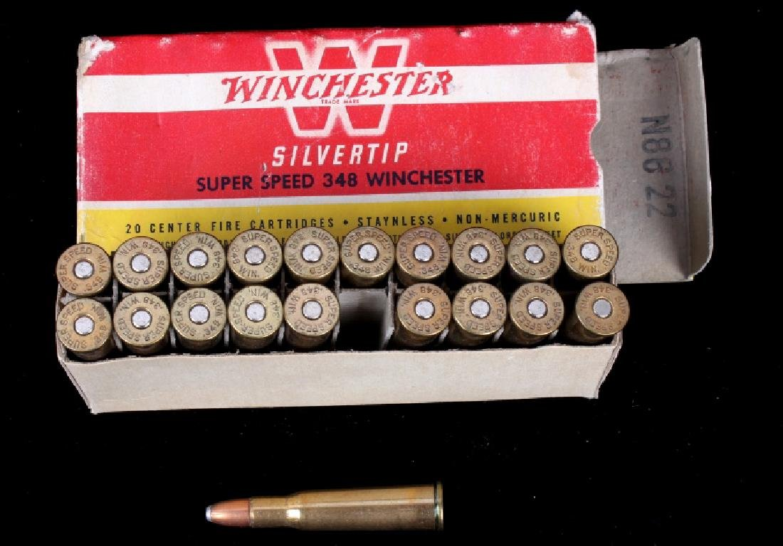 Six boxes .348 Winchester Cartridges - 6