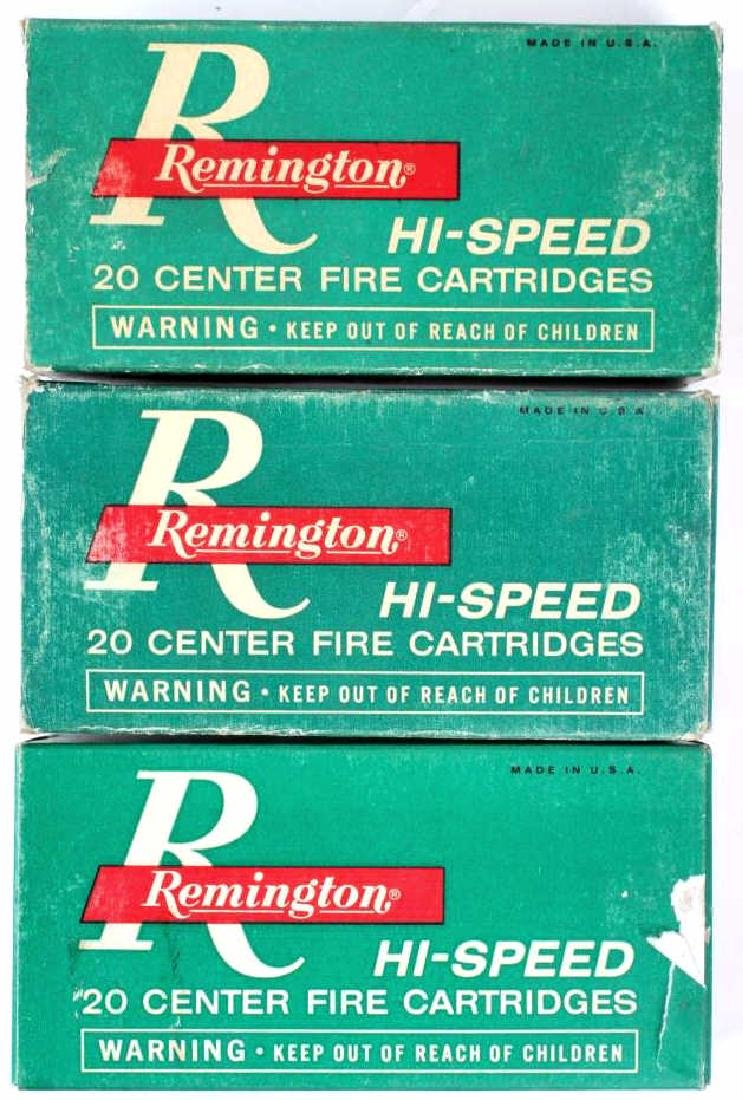 5 Boxes Remington .348 Winchester Ammo - 10