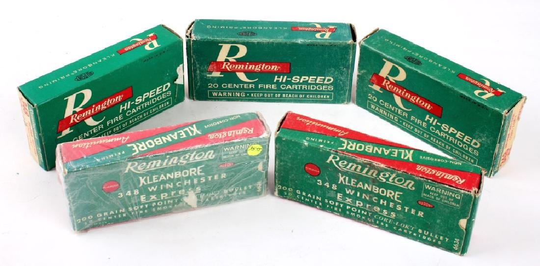 5 Boxes Remington .348 Winchester Ammo