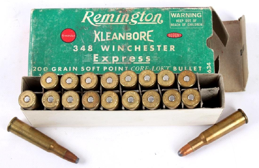 5 Boxes Remington .348 Winchester Ammo - 6