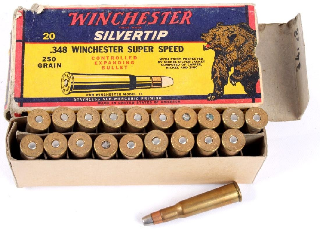 Collection of .348 Winchester Ammo - 10