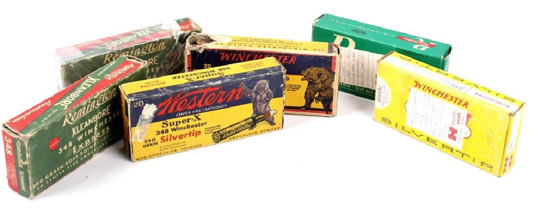 Collection of .348 Winchester Ammo