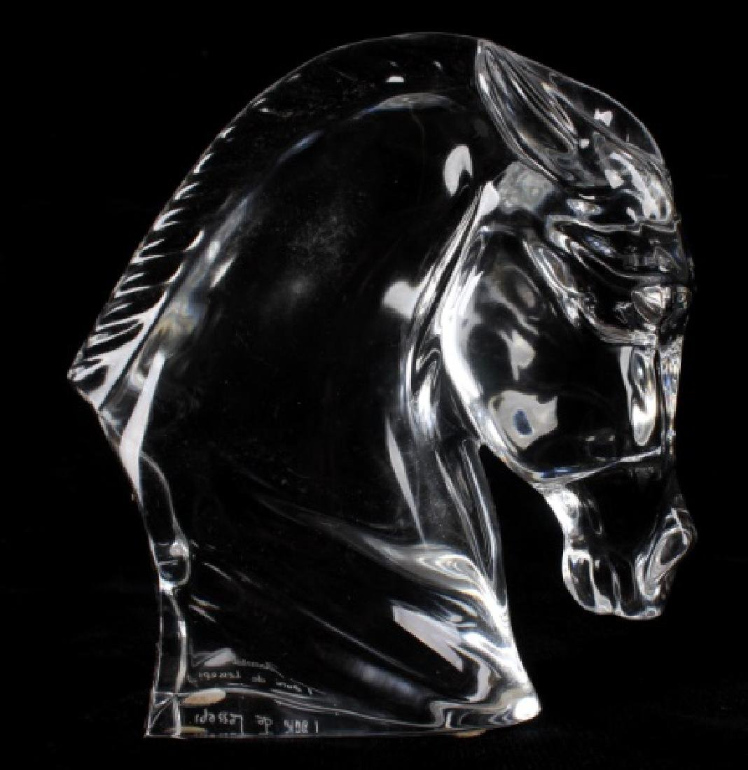Baccarat Tauni de Lesseps Horse Head Statue - 4