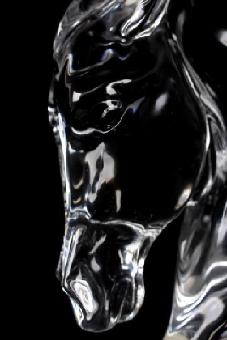 Baccarat Tauni de Lesseps Horse Head Statue - 6