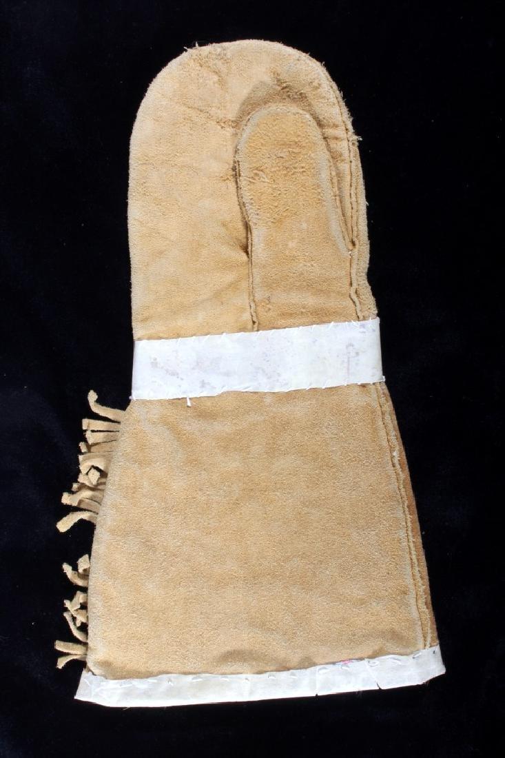 Crow Montana Beaded & Leather Gauntlets Early - 8