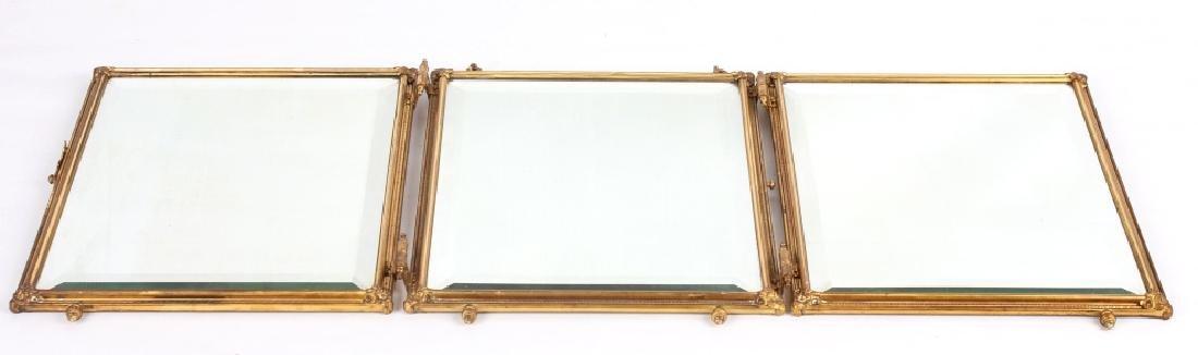 Antique Triptych Travel Mirror circa 1903 - 2