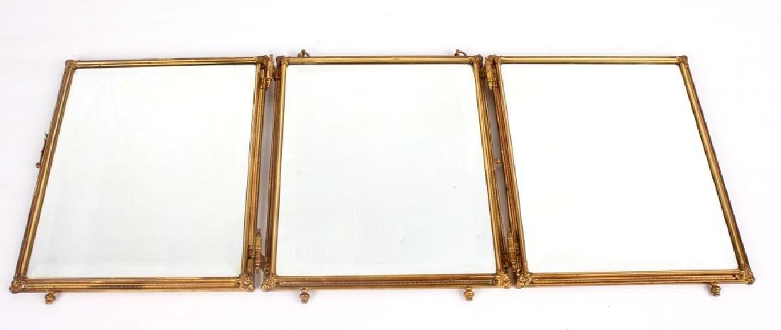 Antique Triptych Travel Mirror circa 1903 - 3
