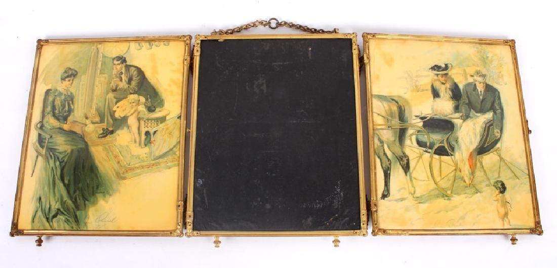 Antique Triptych Travel Mirror circa 1903 - 5