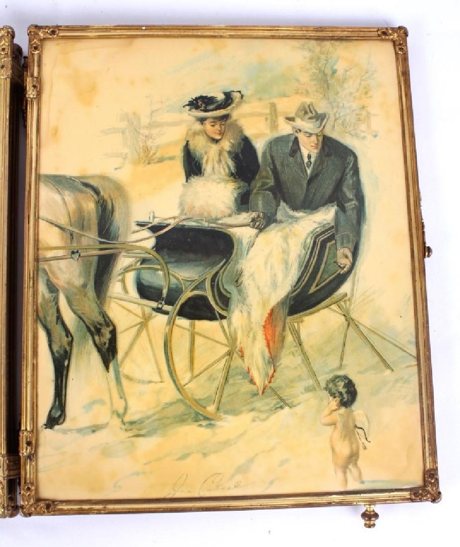 Antique Triptych Travel Mirror circa 1903 - 6